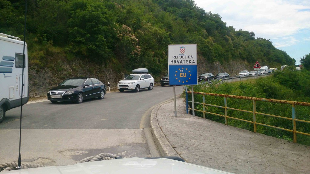 Crossing the border into Croatia!