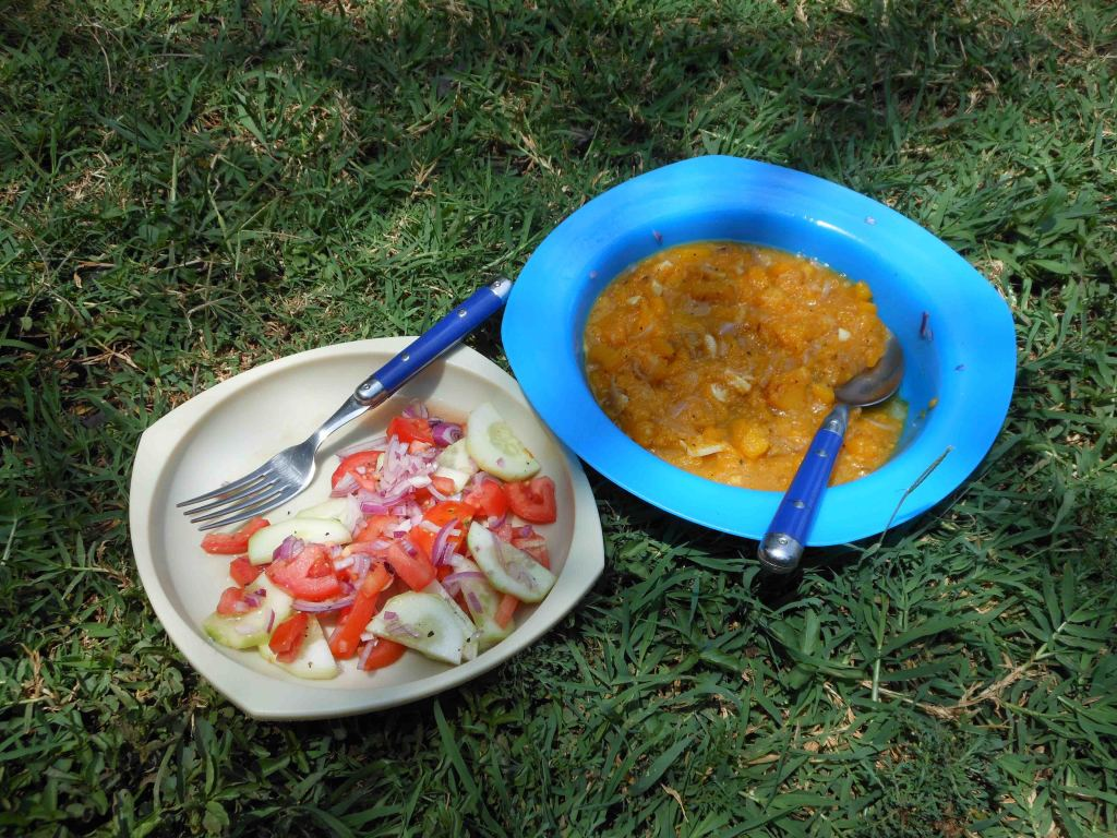 Squash soup and salad in Nairobi