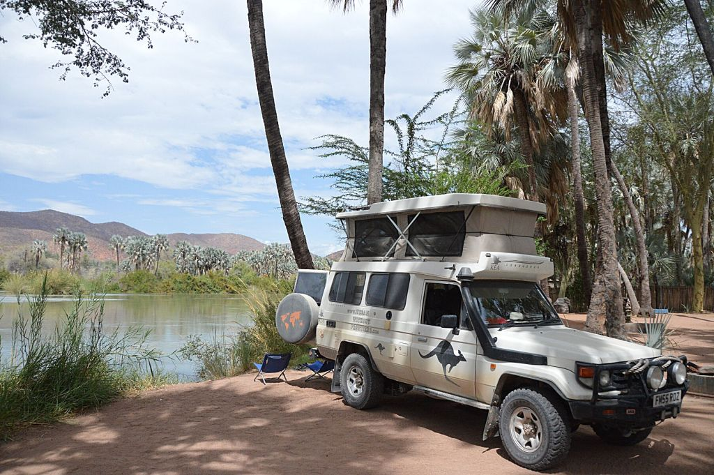 Camping above the Epupa Falls