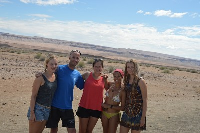 Another meeting on the road to Fish River Canyon