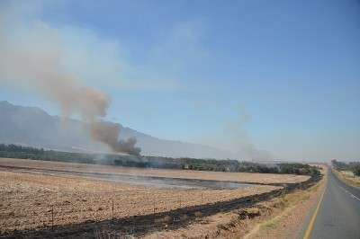 Stubble burning - a reminder of the end of childhood summers back home.