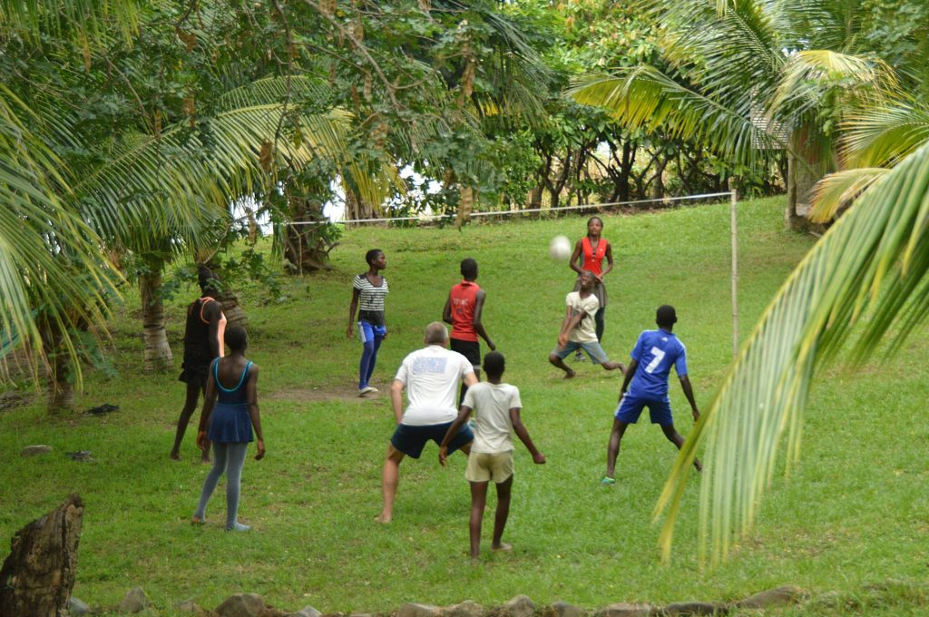 Early Morning Volleyball Training, Cocoa Village, Lake Bosumtwe