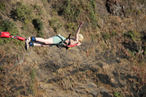 Jumping the Victoria Falls