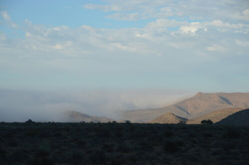 Fog Rolling In - Near Rosh Pinah