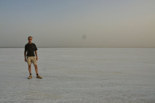 Salt Lake near the border with Eritrea...hot and windy...oh, and I was just a couple of days short of ending up in hospital with Typhoid and Giardia :)