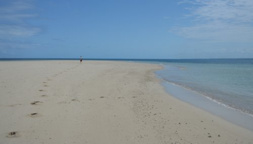 A run out on the sand island - outer reef near Tanga